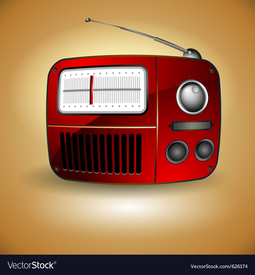Old fm radio icon vector | Price: 1 Credit (USD $1)