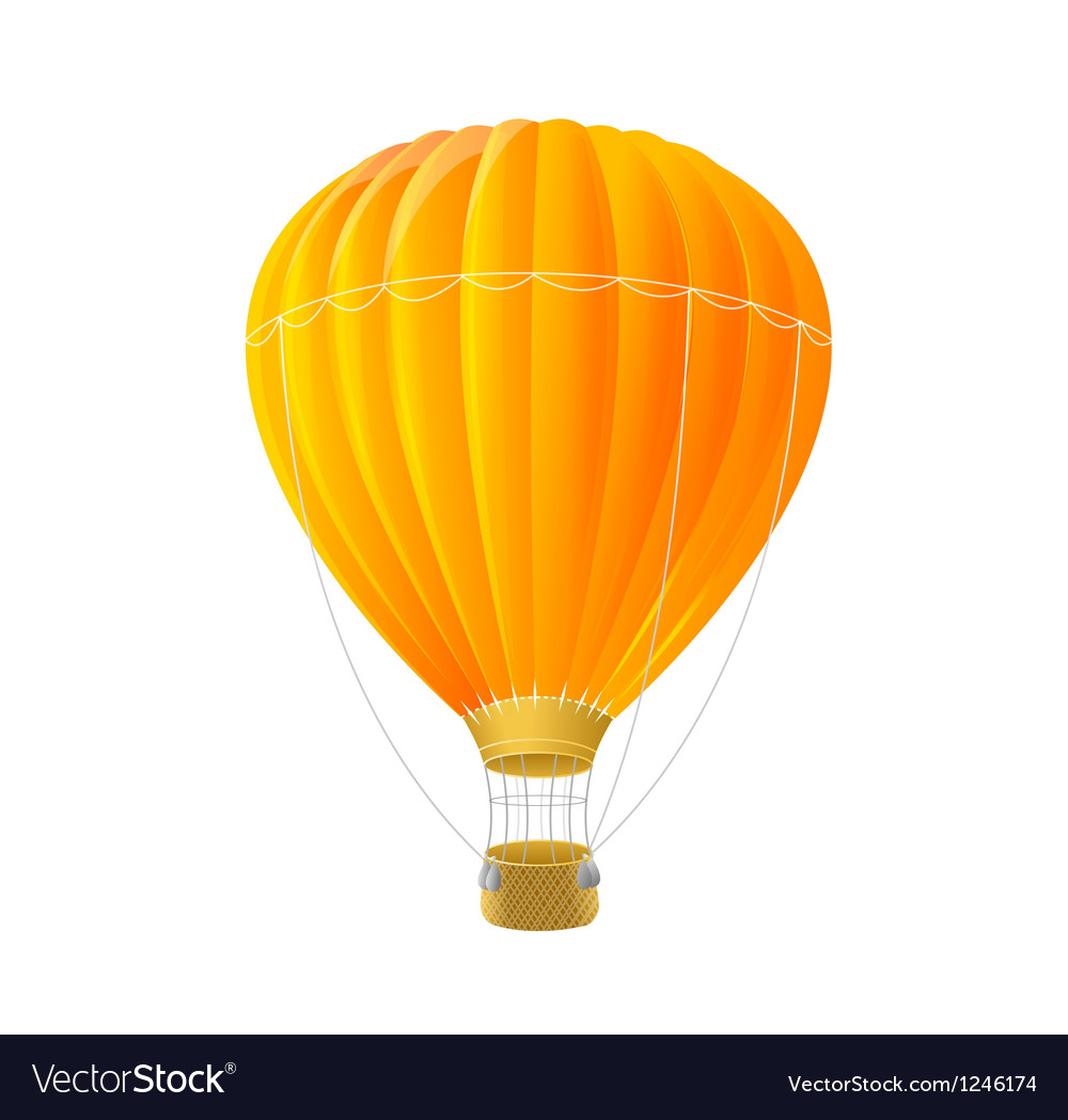 Orange air ballon isolated on white vector | Price: 1 Credit (USD $1)