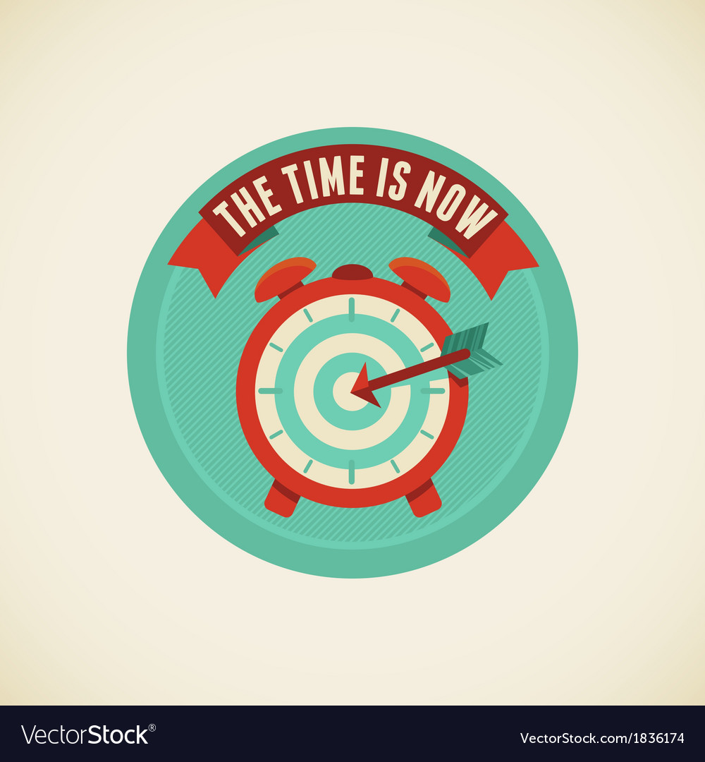 Time is now vector | Price: 1 Credit (USD $1)
