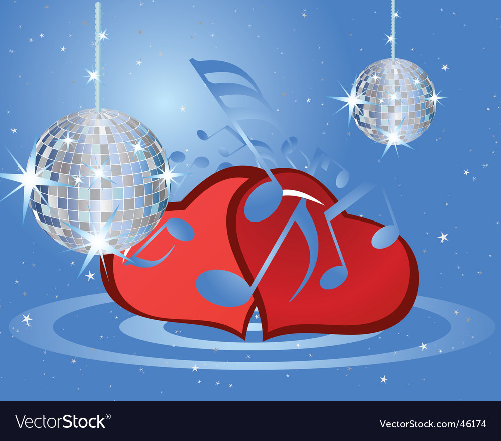 Valentines music background vector | Price: 1 Credit (USD $1)