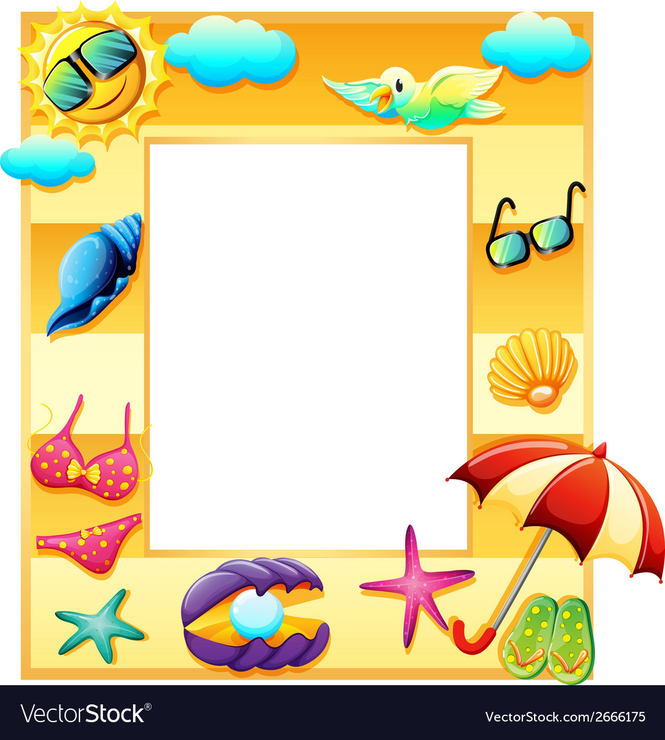 An empty template for summer vector | Price: 1 Credit (USD $1)