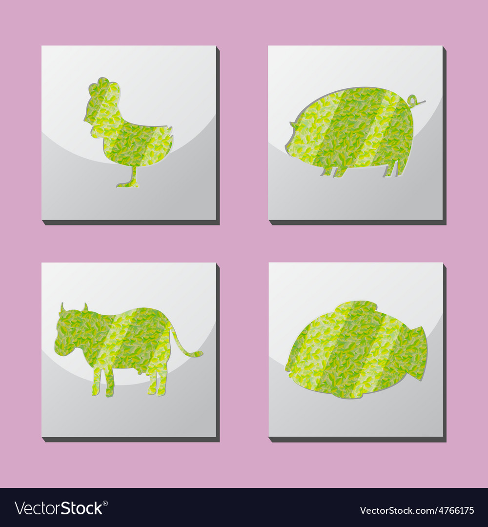Animal shape frame border situate vector   Price: 1 Credit (USD $1)