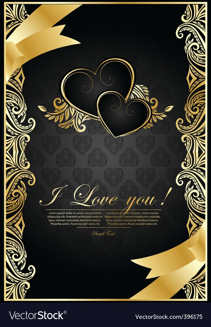 Antique wedding background vector | Price: 1 Credit (USD $1)