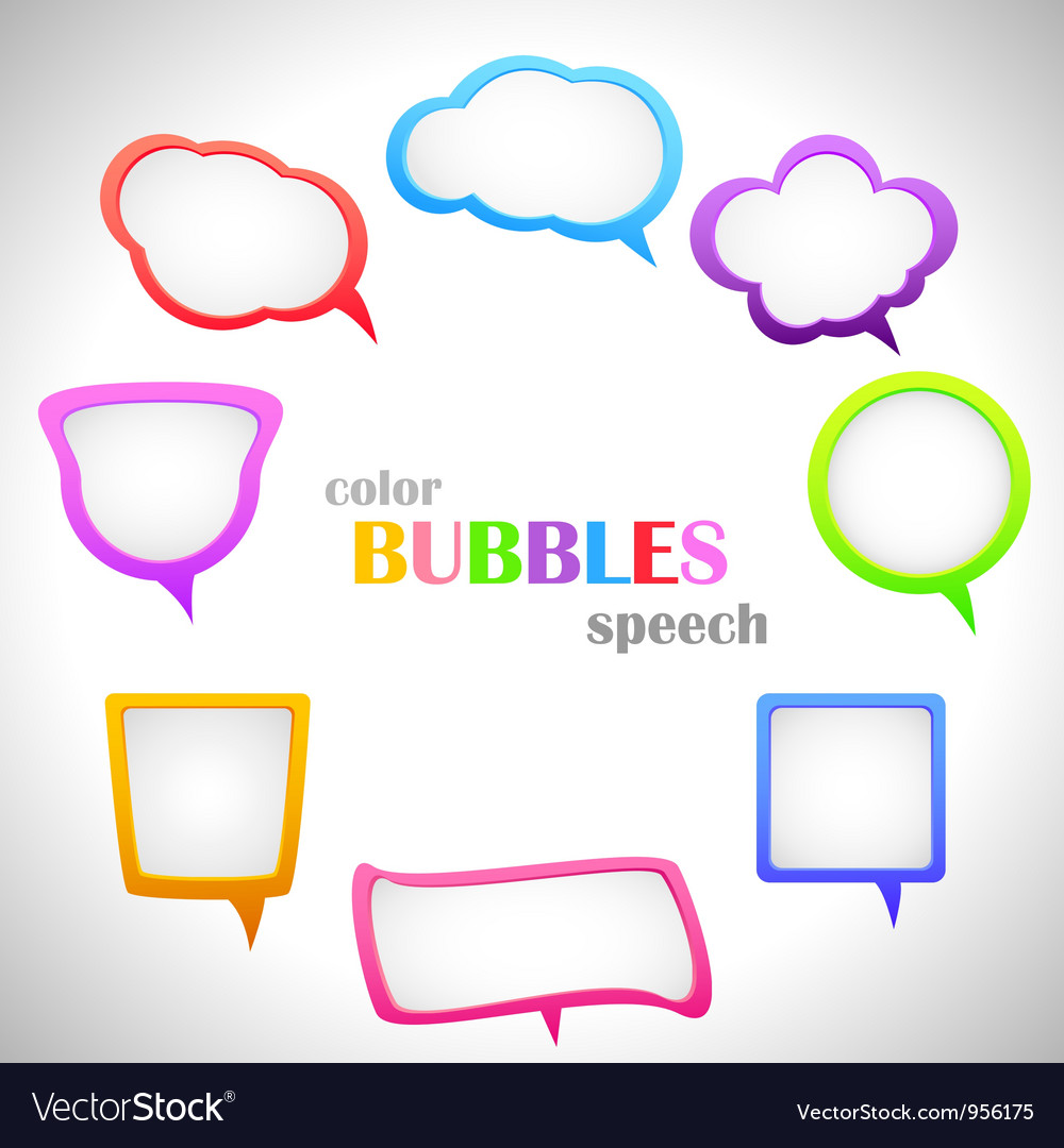 Color speech bubbles vector | Price: 1 Credit (USD $1)