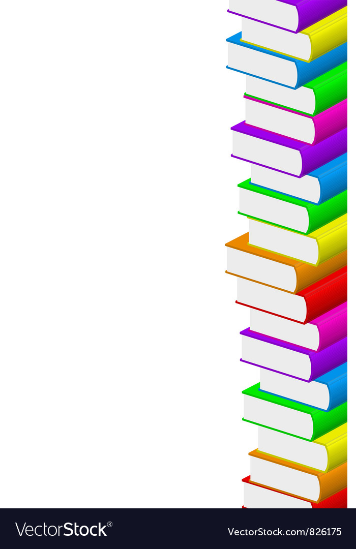 Colorful books vector | Price: 1 Credit (USD $1)