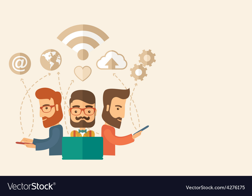 Office teamwork workers vector