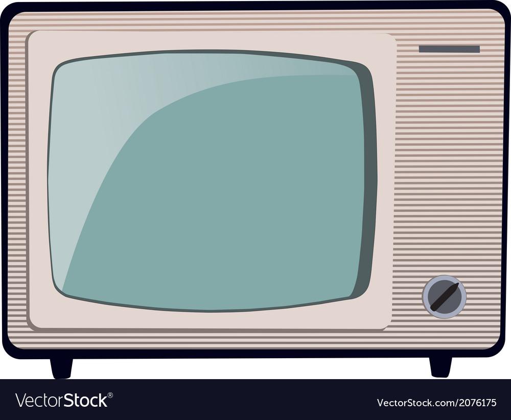 Old tv mg 0618 v vector | Price: 1 Credit (USD $1)