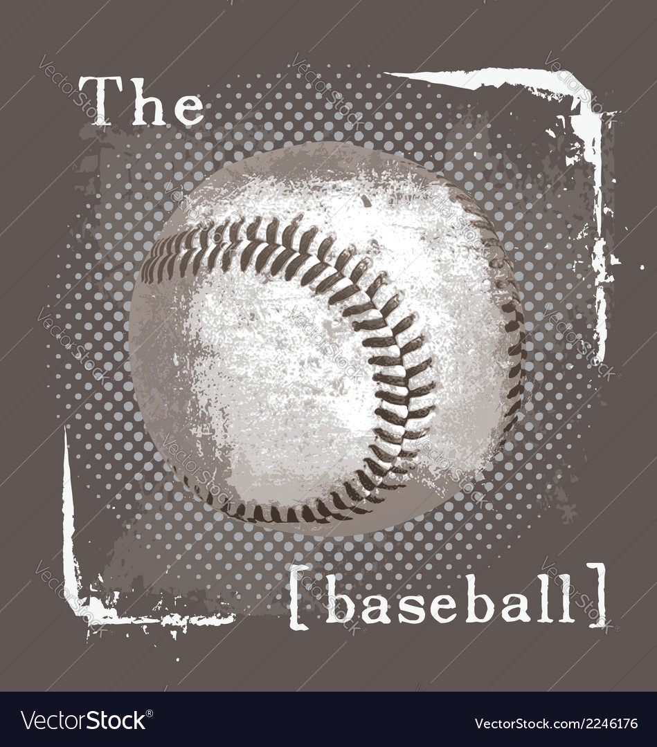 Baseball the ball vector | Price: 1 Credit (USD $1)