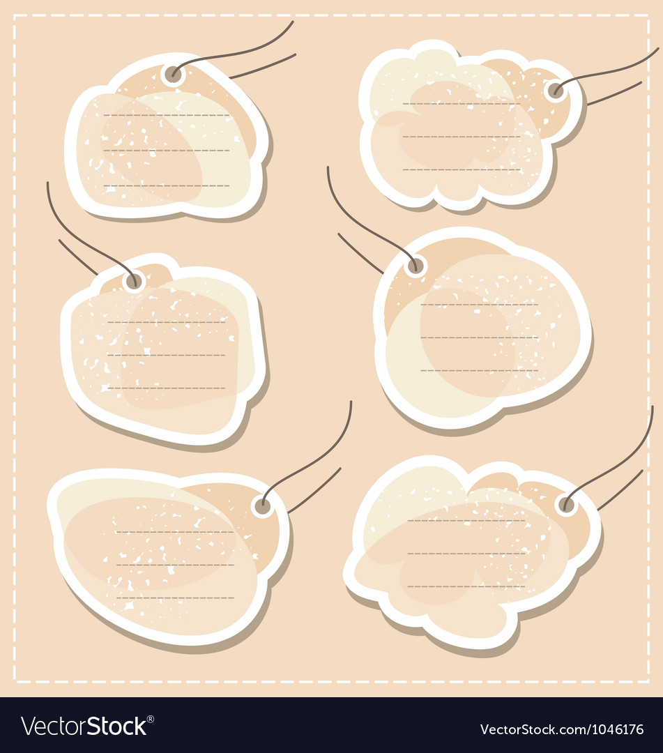 Blank tags set vector | Price: 1 Credit (USD $1)