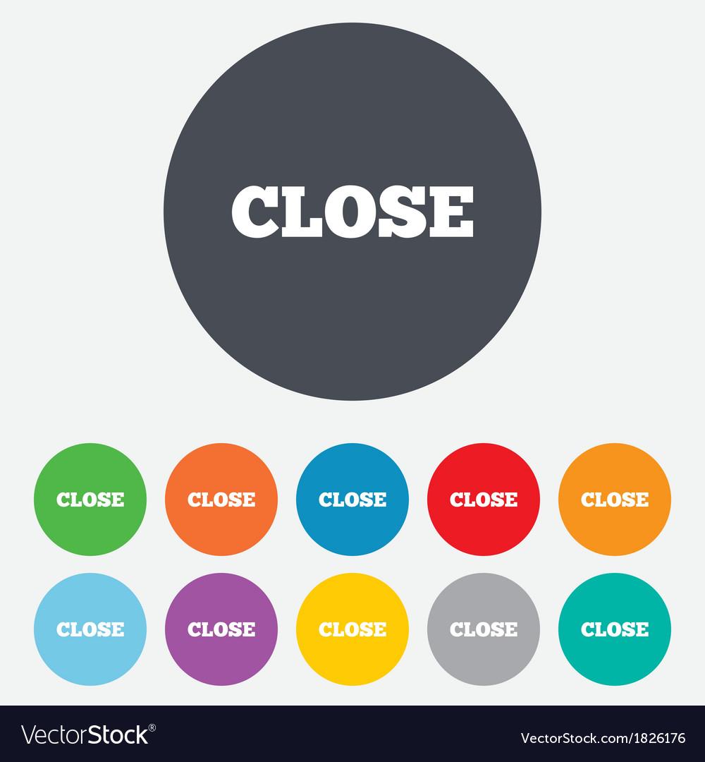 Close sign icon cancel symbol vector | Price: 1 Credit (USD $1)