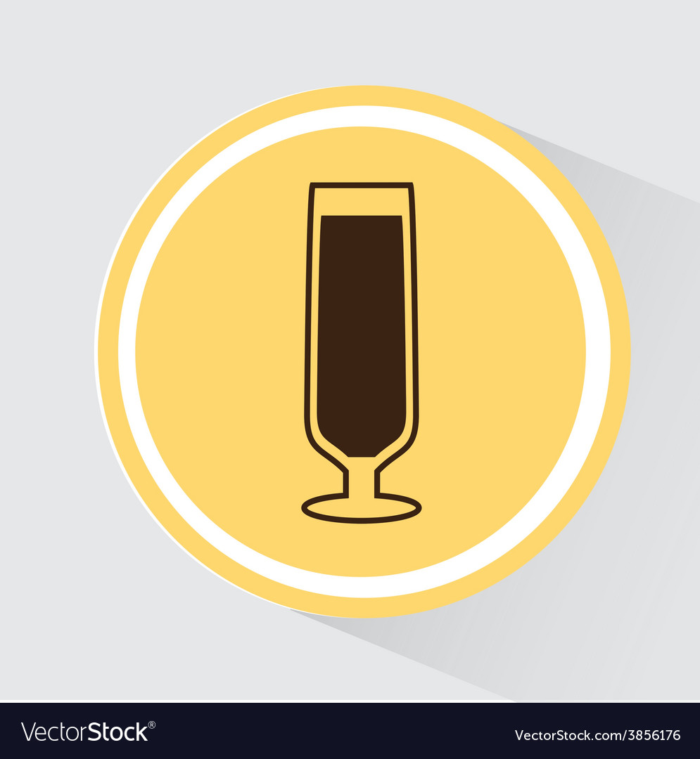 Cup glass vector | Price: 1 Credit (USD $1)