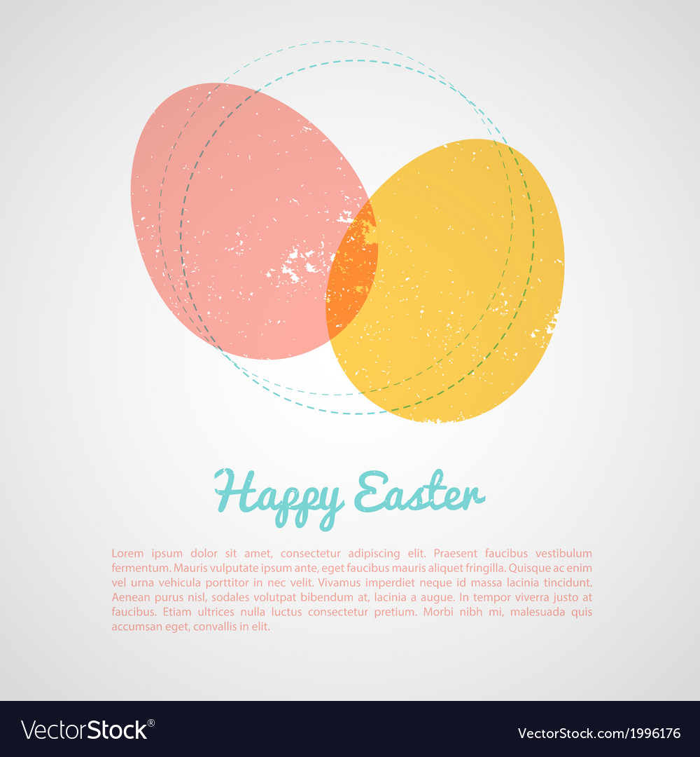 Easter design template vector | Price: 1 Credit (USD $1)