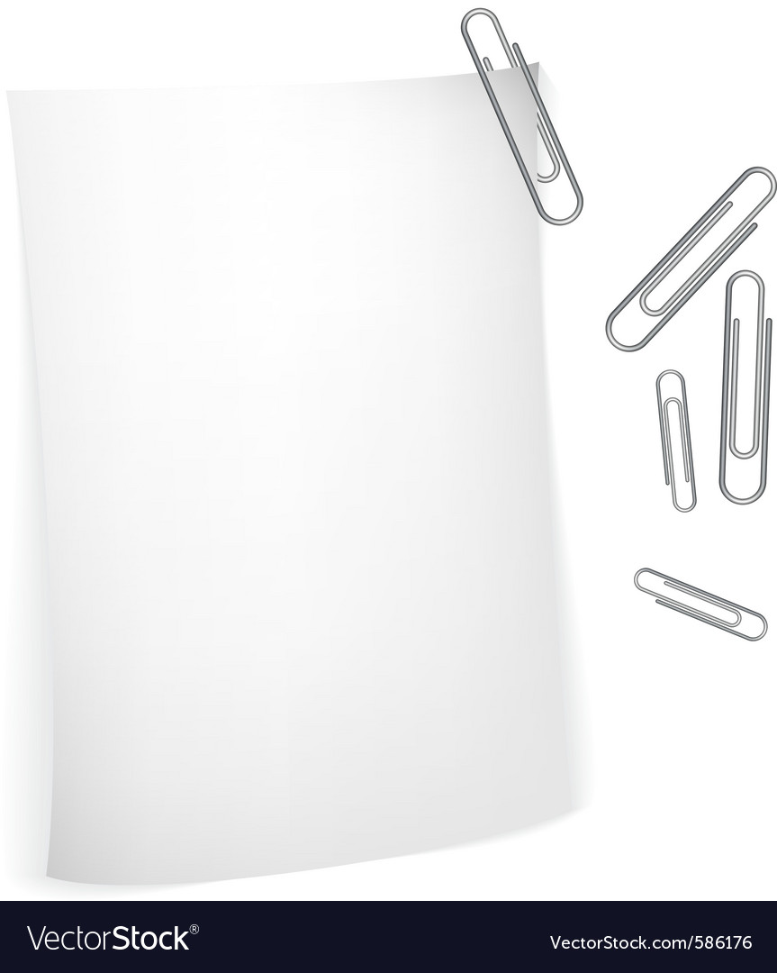 Notes with paperclips vector   Price: 1 Credit (USD $1)