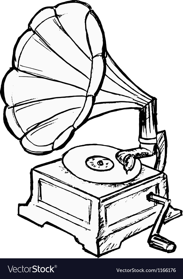 Phonograph vector | Price: 1 Credit (USD $1)