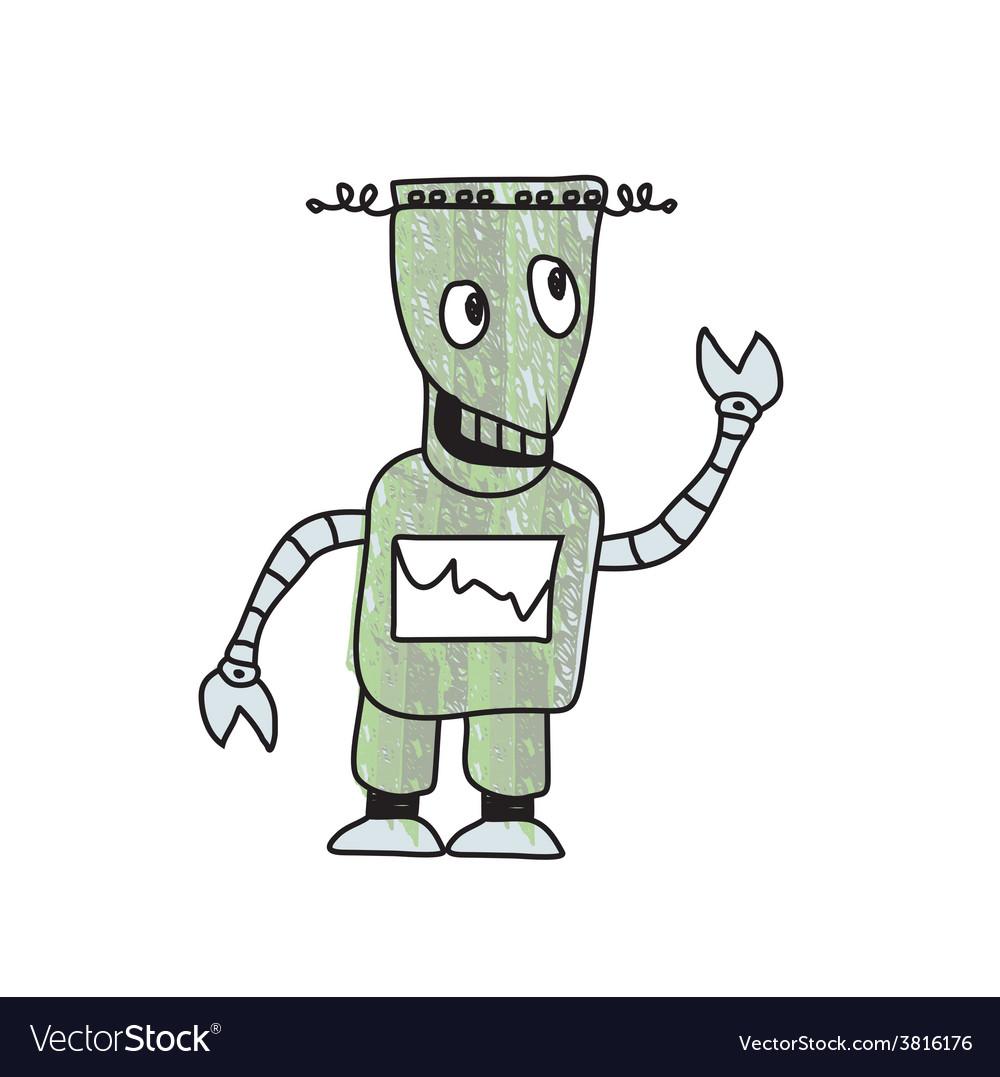 Robot sketch doodle vector | Price: 1 Credit (USD $1)