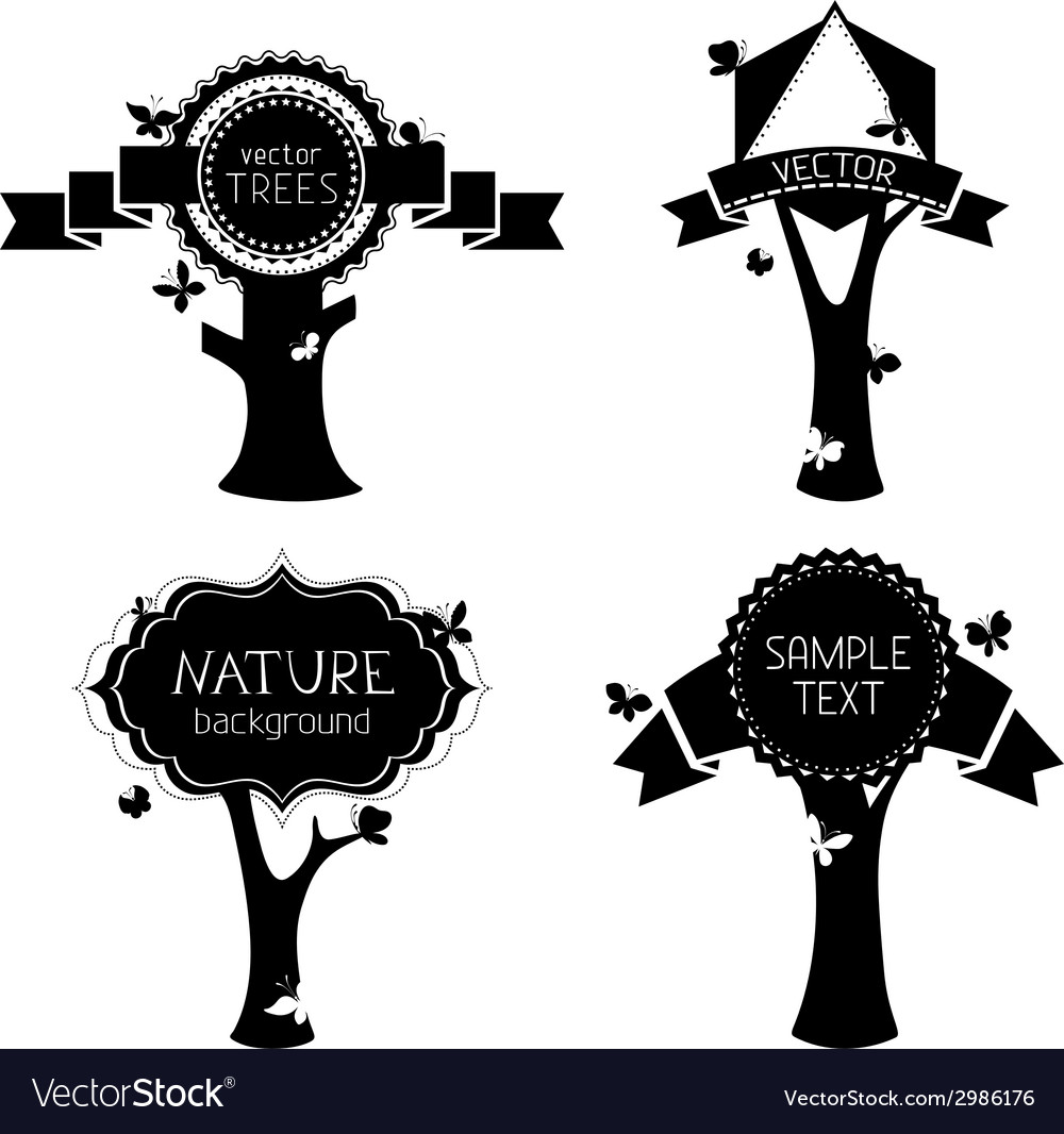 Set of trees with labels vector | Price: 1 Credit (USD $1)
