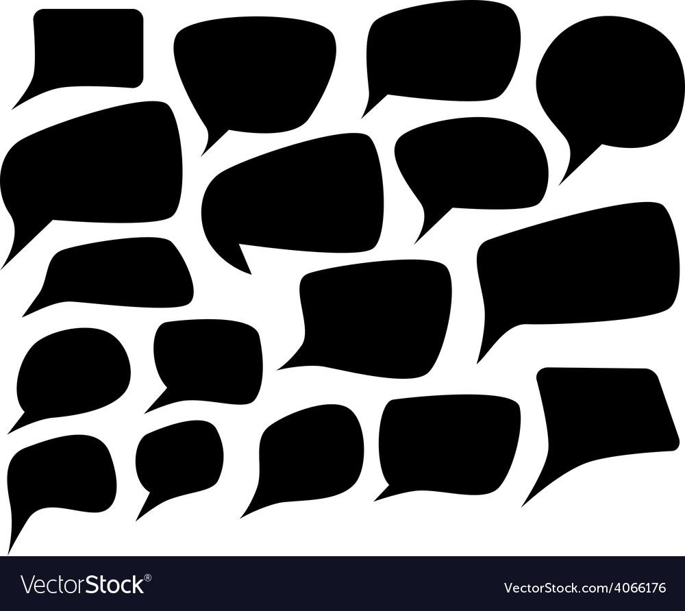 Speech silhouette set vector   Price: 1 Credit (USD $1)