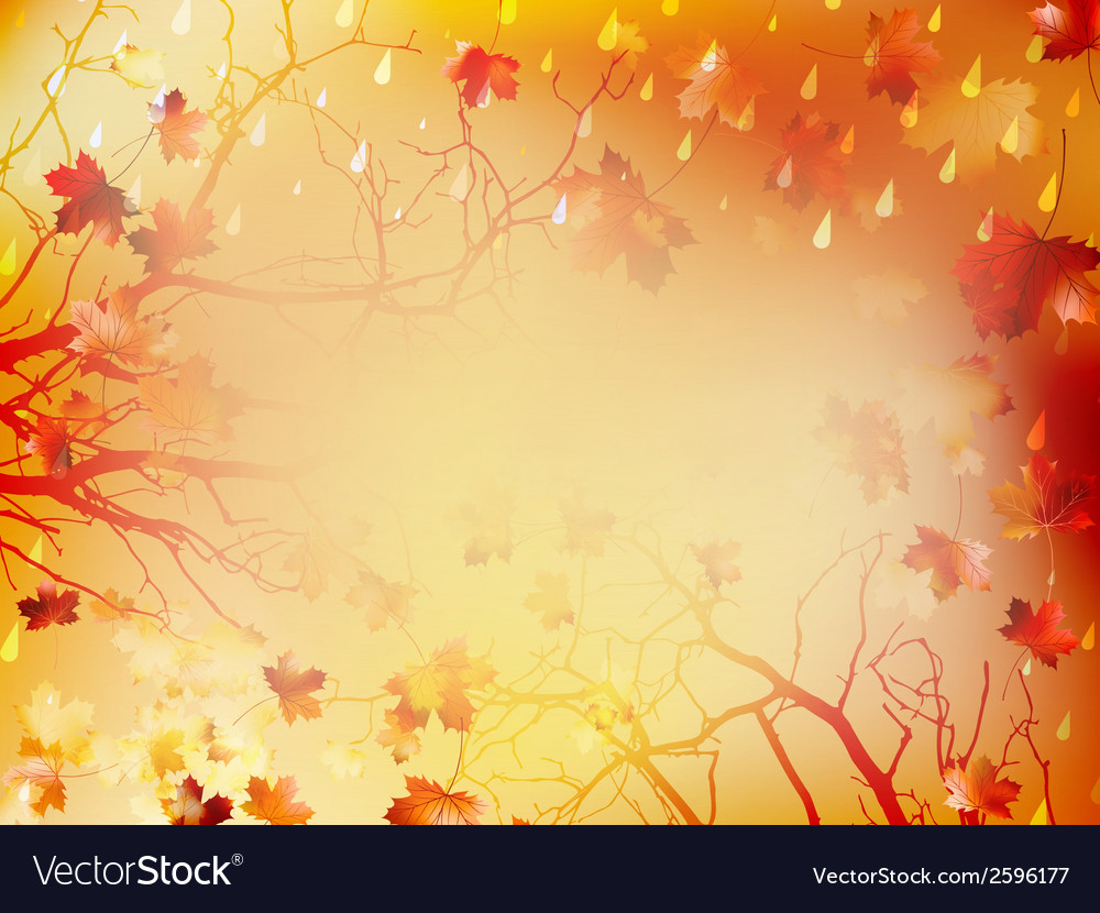 Autumnal background with maple leaves eps 10 vector   Price: 1 Credit (USD $1)