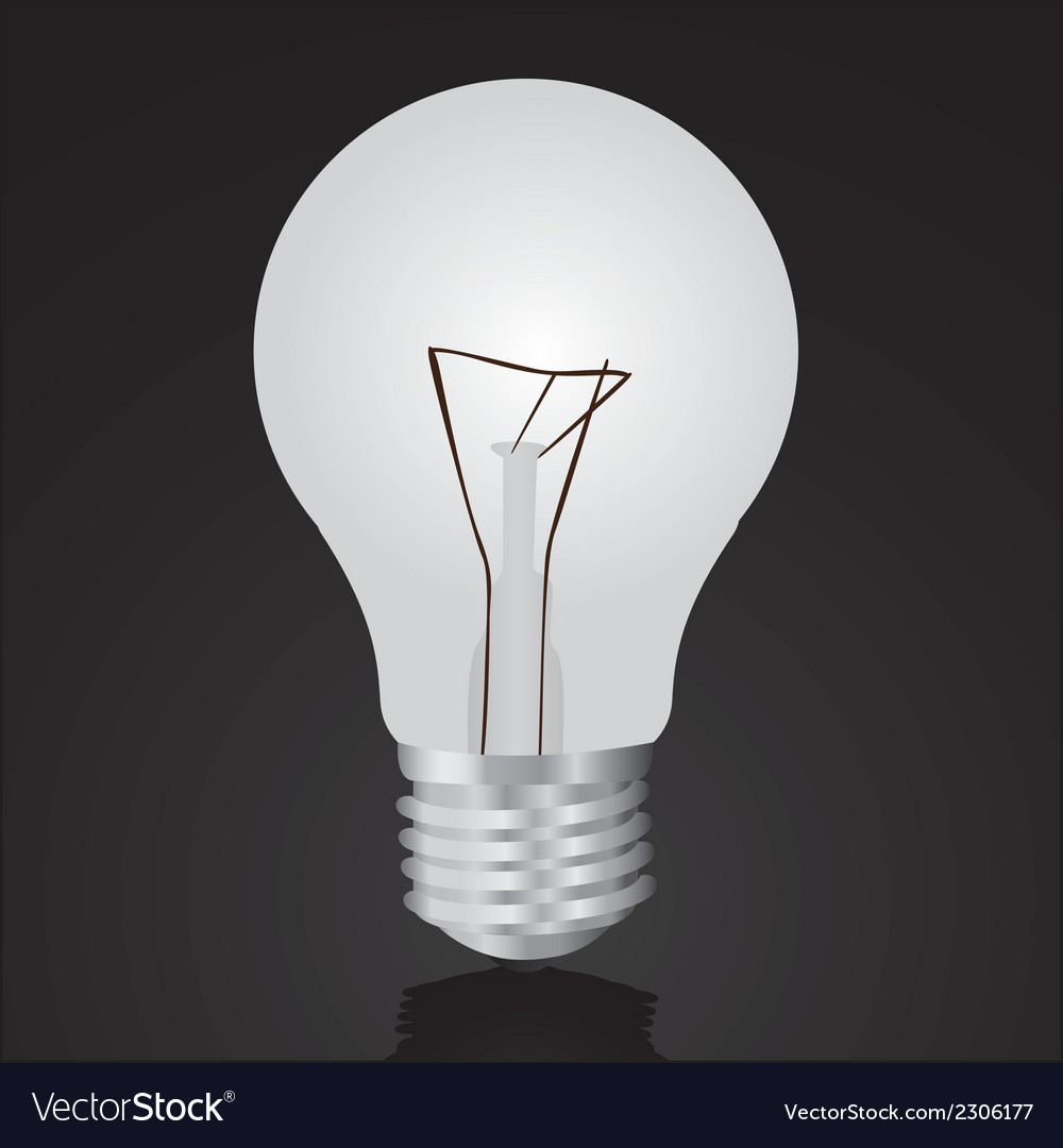 Bulb isolated on black vector | Price: 1 Credit (USD $1)