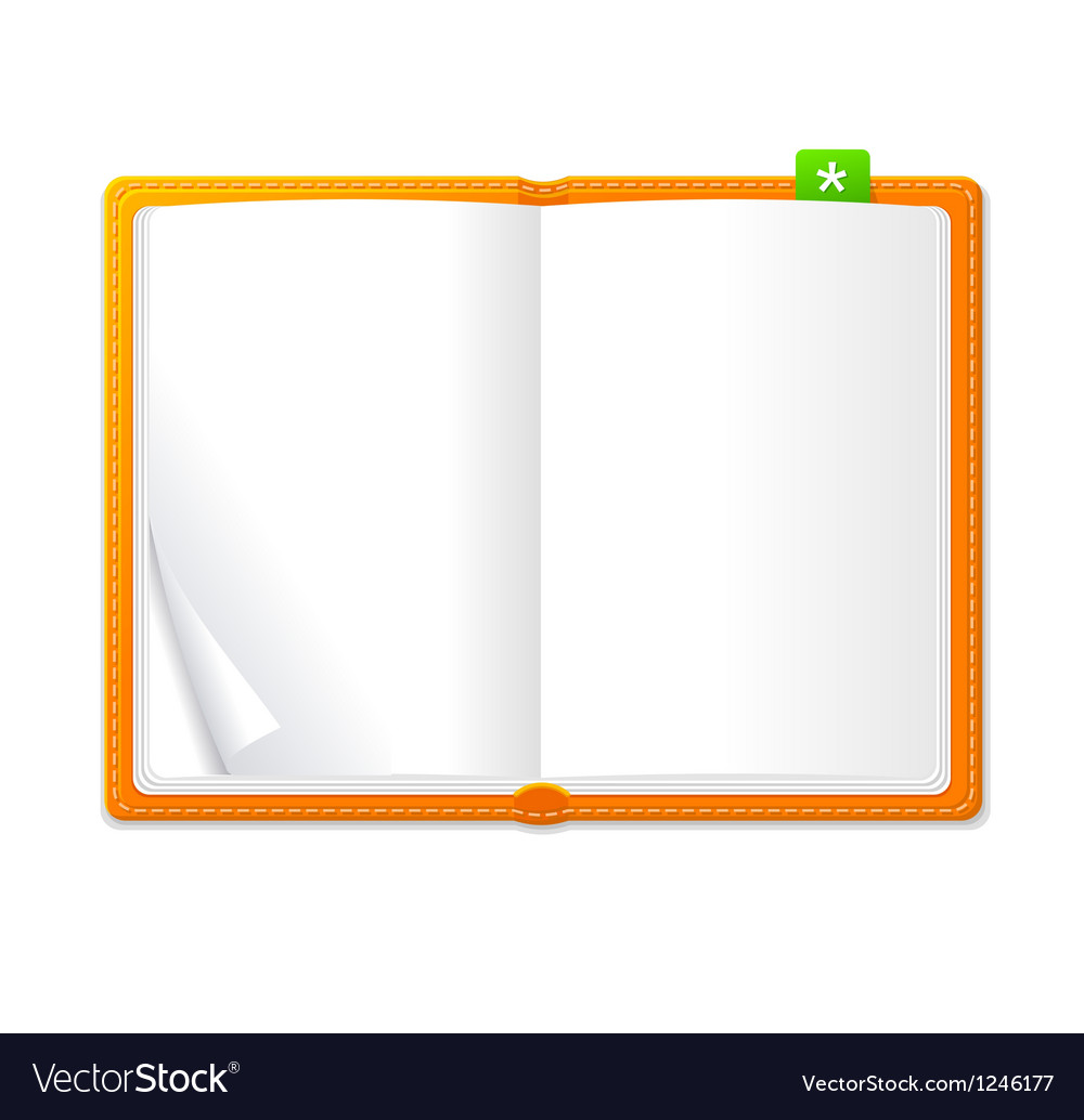 Empty open book vector | Price: 1 Credit (USD $1)