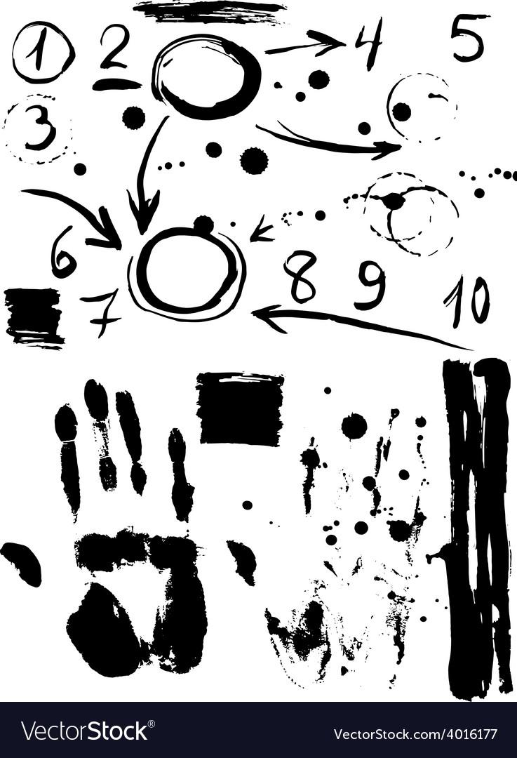 Figures sale handprint black sketch vintage poster vector | Price: 1 Credit (USD $1)