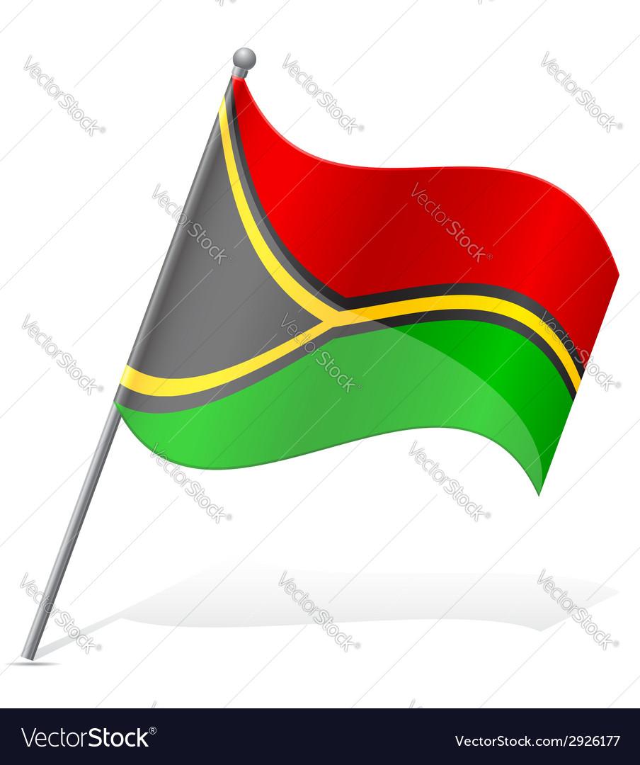 Flag of vanuatu vector | Price: 1 Credit (USD $1)