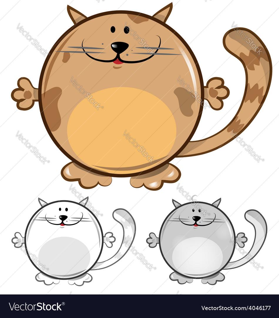 Funny cat cartoon vector | Price: 1 Credit (USD $1)