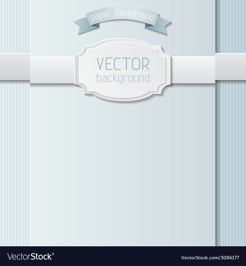 Paper design template vector | Price: 1 Credit (USD $1)