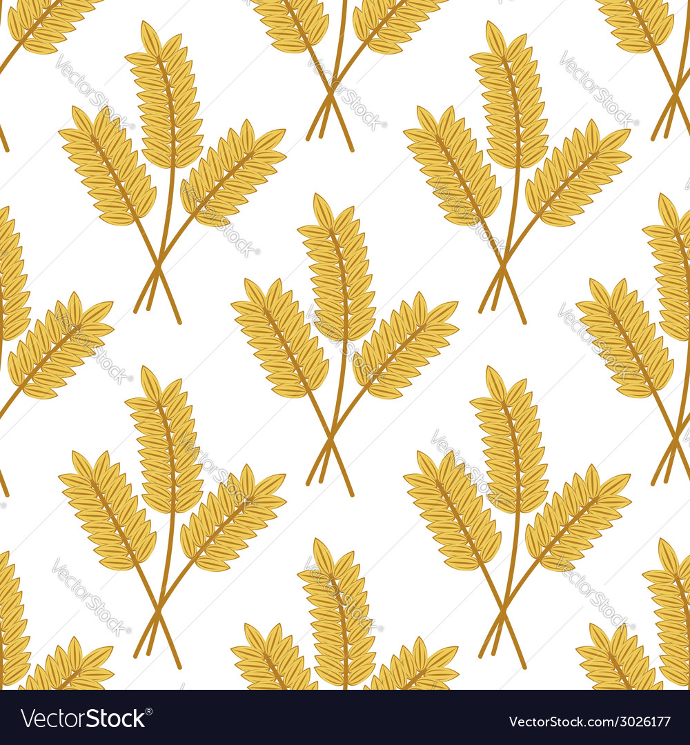 Seamless pattern of cereal ears vector | Price: 1 Credit (USD $1)