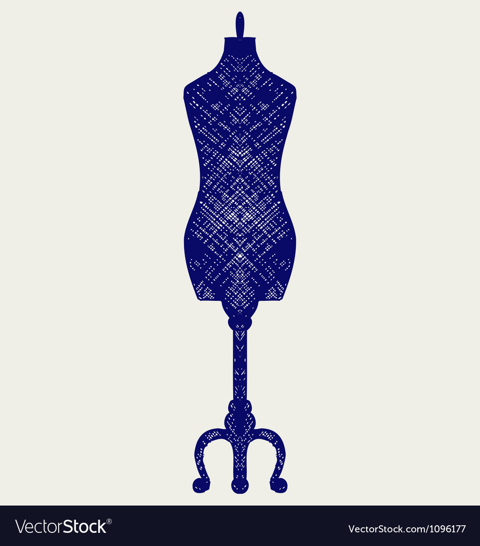 Tailors mannequin vector | Price: 1 Credit (USD $1)