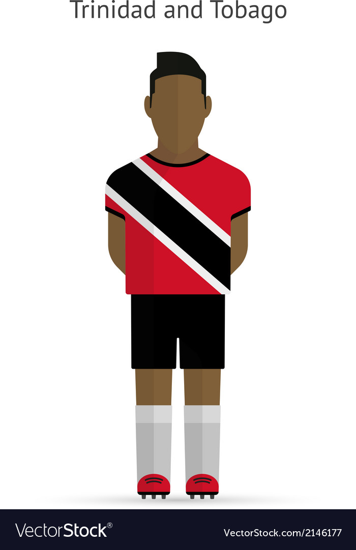 Trinidad and tobago football player soccer uniform vector | Price: 1 Credit (USD $1)