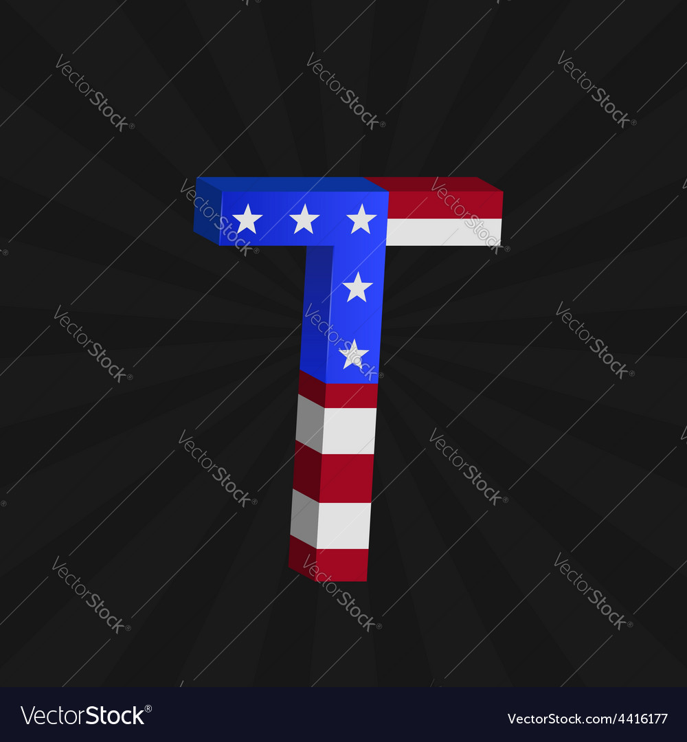 Usa flag alphabet vector | Price: 1 Credit (USD $1)