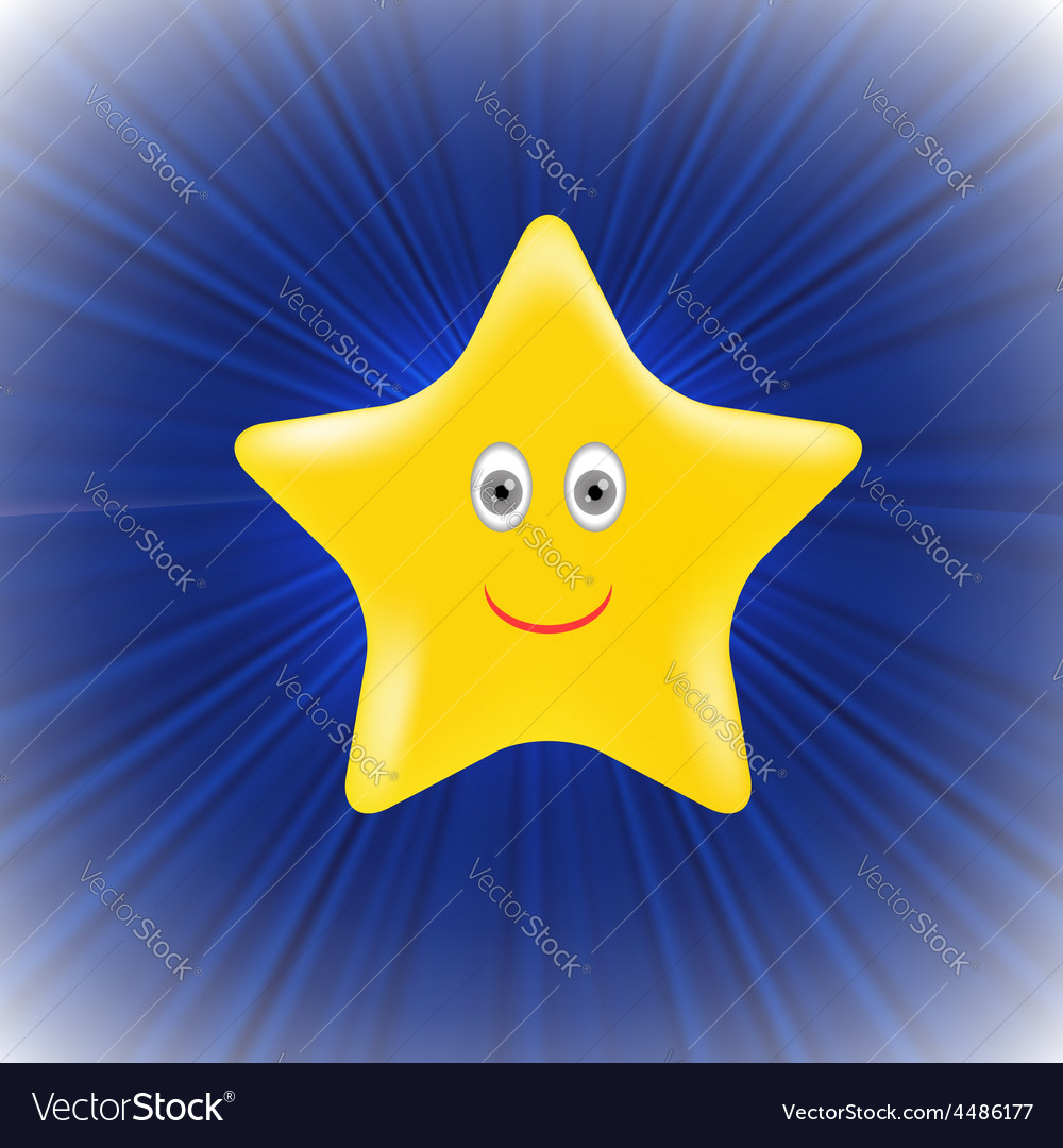 Yellow star vector | Price: 1 Credit (USD $1)