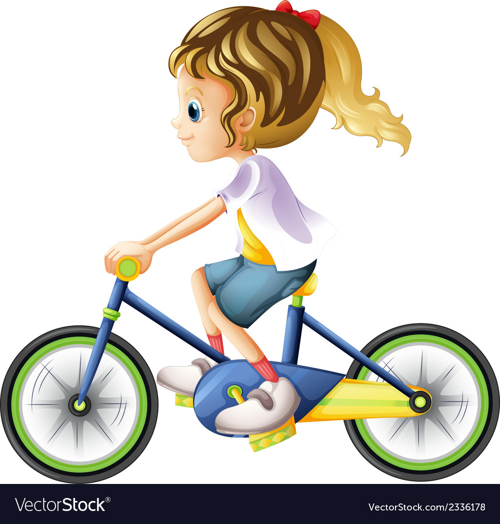 A young lady biking vector | Price: 1 Credit (USD $1)