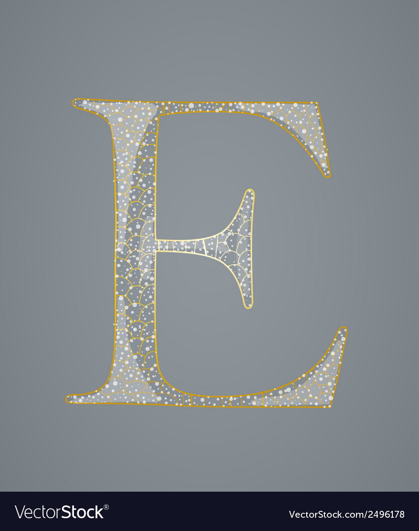 Abstract golden letter e vector | Price: 1 Credit (USD $1)
