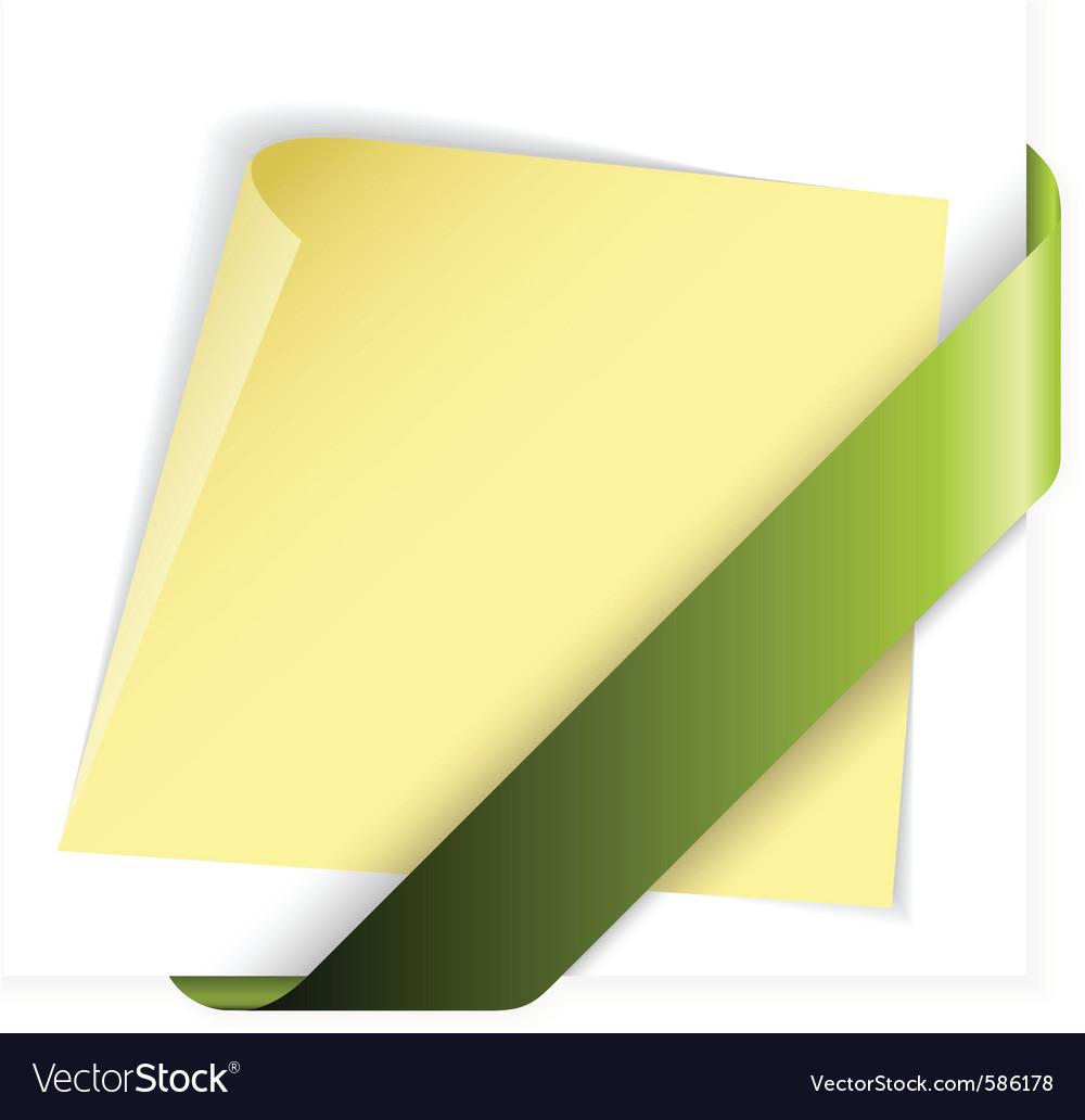 Empty green corner vector | Price: 1 Credit (USD $1)