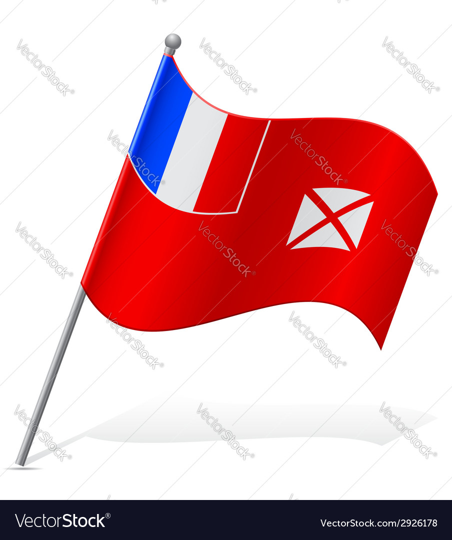 Flag of wallis and futuna vector | Price: 1 Credit (USD $1)