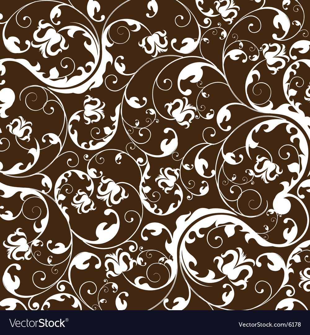 Floral wallpaper vector | Price: 1 Credit (USD $1)