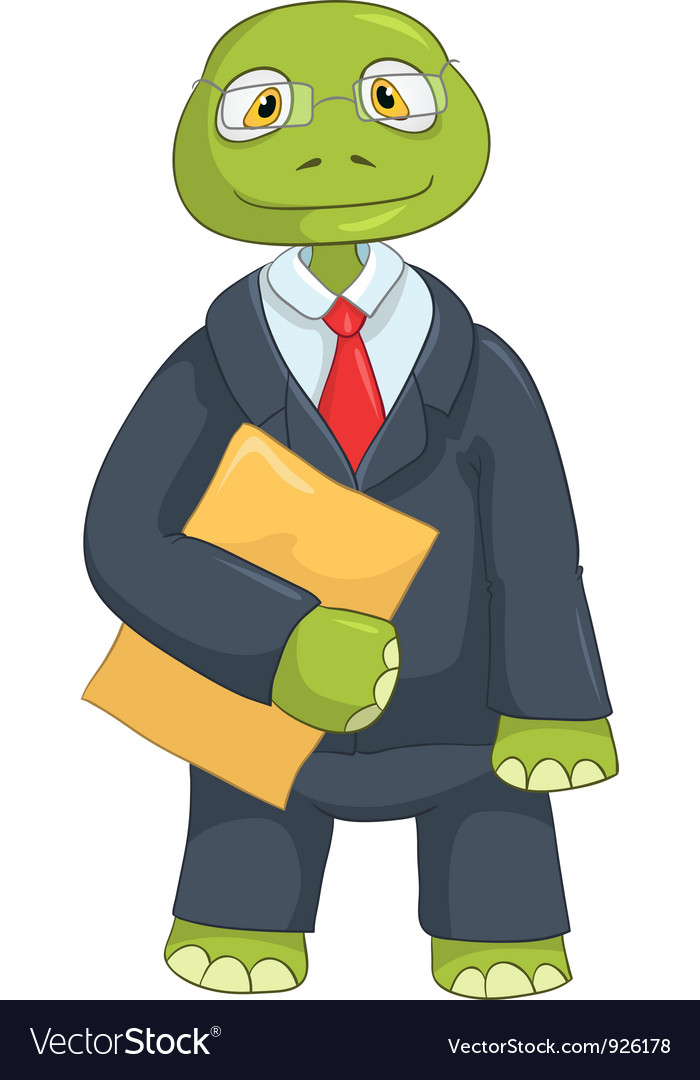 Funny turtle businessman vector | Price: 3 Credit (USD $3)