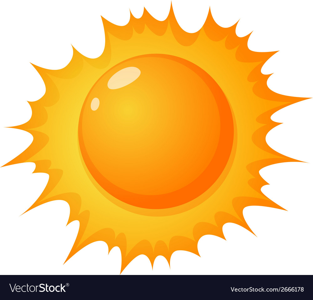 The hot sun vector | Price: 1 Credit (USD $1)