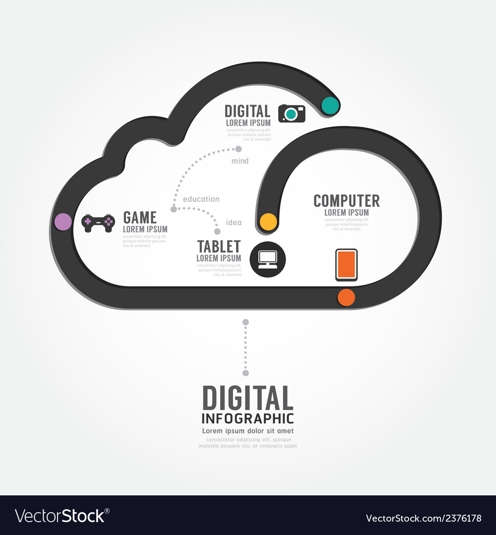 Infographic technology digital line concept vector | Price: 1 Credit (USD $1)