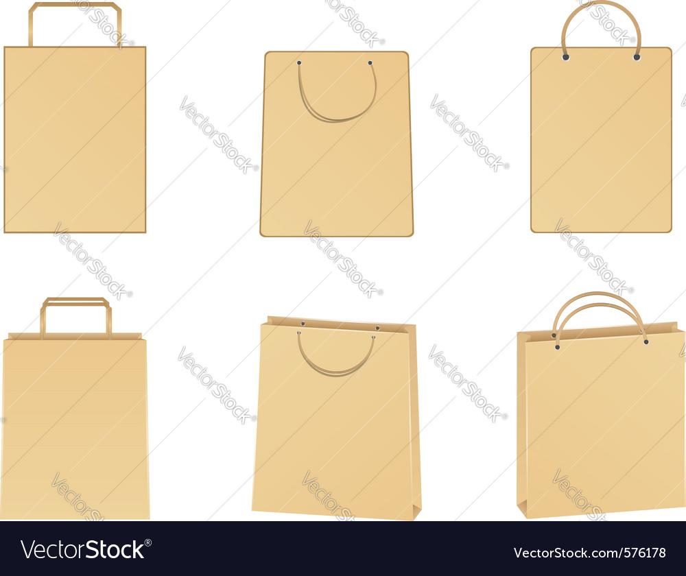 Paper bags vector | Price: 1 Credit (USD $1)