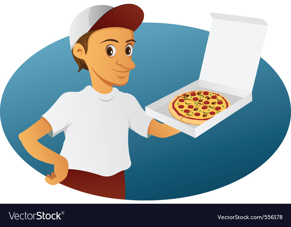 Pizza delivery man vector | Price: 3 Credit (USD $3)