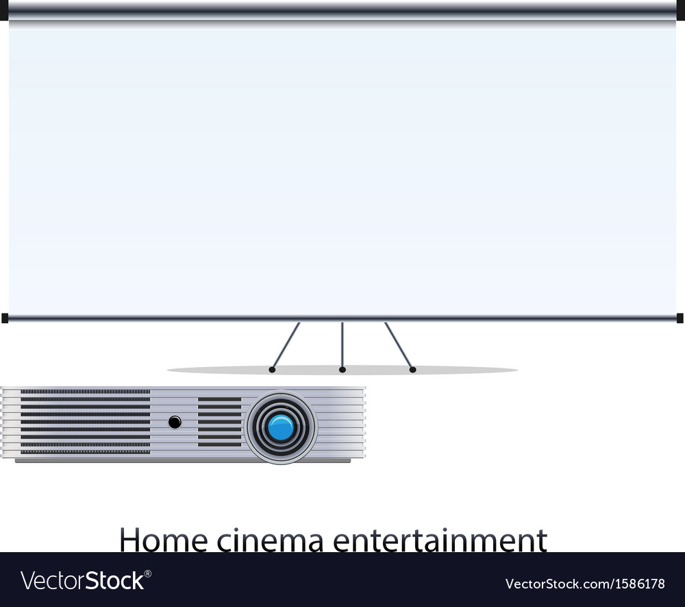Projector and screen vector | Price: 1 Credit (USD $1)
