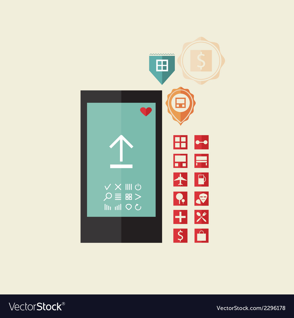 Set of icons for the phone vector | Price: 1 Credit (USD $1)