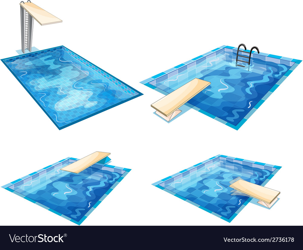 Set of pools vector | Price: 1 Credit (USD $1)
