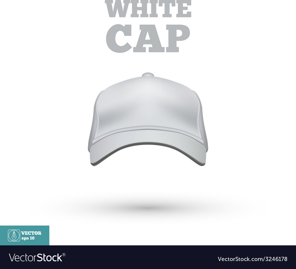 White cap isolated on white vector | Price: 1 Credit (USD $1)