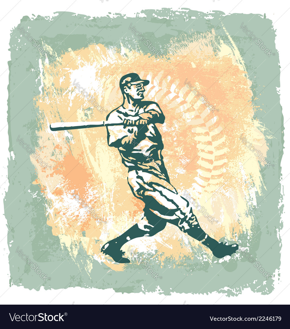 Baseball classic abstract vector | Price: 1 Credit (USD $1)