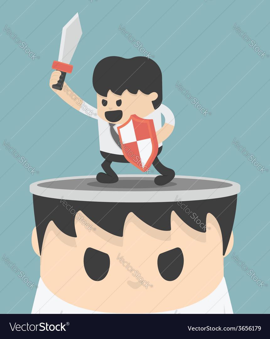 Businessman concept idea of fighting vector | Price: 1 Credit (USD $1)