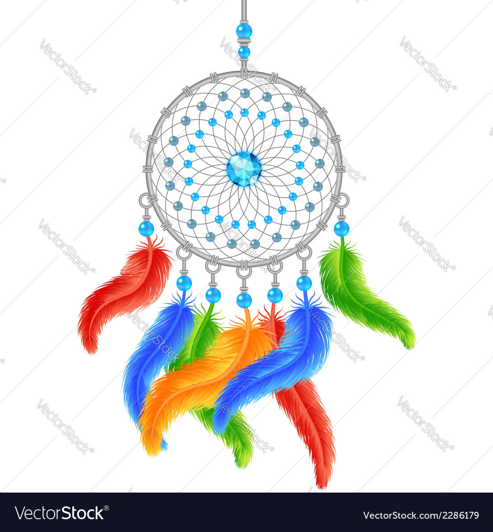 Colorful dream catcher vector | Price: 1 Credit (USD $1)